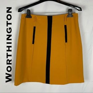 Worthington Mustard and Black Skirt